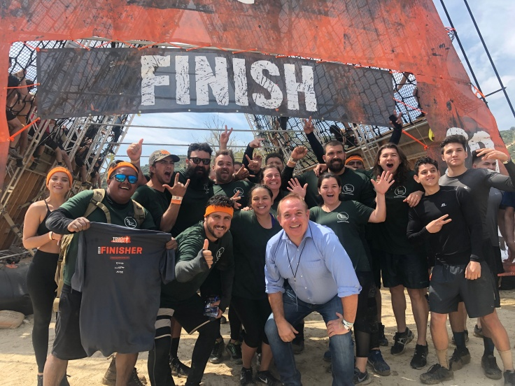 GeoSnapShot CEO Andy Edwards at Tough Mudder LA while in the US to sign the deal with Tough Mudder